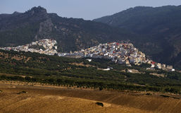 Aerial view of Moulay Idriss Zerhoun near Meknes, Morocco Royalty Free Stock Image