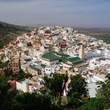 Aerial view of Moulay Idriss Zerhoun near Meknes, Morocco Royalty Free Stock Photos