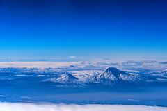 Aerial view of Mount Ararat. Scenic aerial view of Mount Ararat. The legendary resting place of Noah`s Ark Stock Image