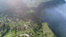 Aerial view of Mount Bromo, East Java, Indonesia. stock footage