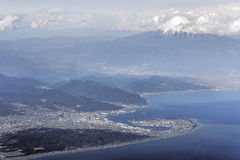 Aerial view of Mount Fuji Stock Photo