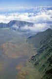 Aerial View of Mount Haleakala Volcano, Maui, Hawaii Stock Photo