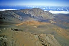 Aerial View of Mount Haleakala Volcano, Maui, Hawaii Stock Photography