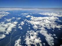 Aerial view of mount Hood Royalty Free Stock Image
