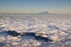Aerial View of Mount Rainer Royalty Free Stock Images