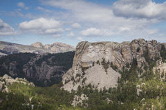 Aerial view of Mount Rushmore Royalty Free Stock Photography