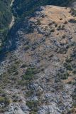 Aerial view of the mountain Royalty Free Stock Images