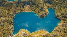 Mountain lake Barracuda on a tropical island, Philippines, Coron, Palawan. Stock Photo