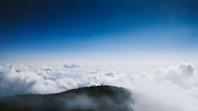 Aerial view of mountain clouds Royalty Free Stock Photo