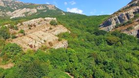 AERIAL VIEW. Mountain Demerji Ridge Overgrown With stock video