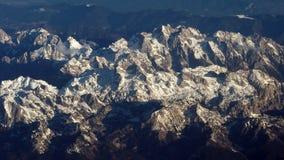 Aerial view of mountain, Dolomites Stock Photos