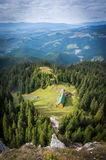 Aerial view of a mountain hut Royalty Free Stock Photo