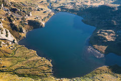 Aerial View of a Mountain Lake in Rila Stock Images