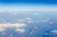 Aerial view of mountain Royalty Free Stock Image
