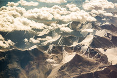 Aerial view of mountain range in Leh, Ladakh, India. Stock Images