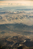 Aerial view of mountain range in Leh, Ladakh, India. Stock Photo