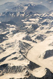 Aerial view of mountain range in Leh, Ladakh, India. Royalty Free Stock Photos