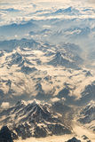 Aerial view of mountain range in Leh, Ladakh, India. Royalty Free Stock Images