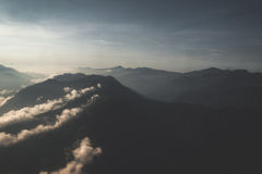 Aerial view of mountain range in Nepal Stock Photography