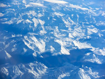 Aerial view of a mountain range,Pyrenees Royalty Free Stock Photography