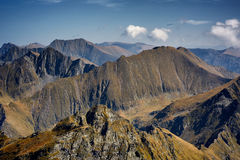 Aerial view of mountain ranges Royalty Free Stock Photos