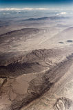 Aerial view of mountain ridge. In the desert Royalty Free Stock Images