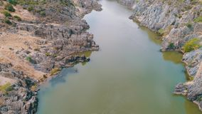 Aerial View of the Mountain River stock video