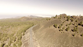 Aerial view of mountain windy road Stock Photography
