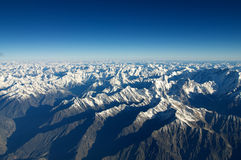 Aerial view of the mountains stock photo