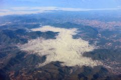 Aerial view on mountains Royalty Free Stock Images