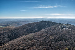 Aerial view on mountains and forests in Serbia Stock Photography