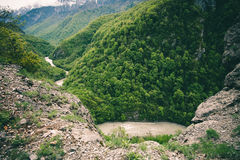 Aerial view Mountains Landscape of Bzyb river Royalty Free Stock Photos