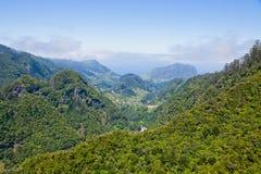 Aerial view of mountains on Madeira island Stock Photos