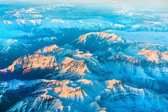 Aerial view of mountains in Northern Anatolia, Turkey. Aerial view of mountains in Northern Anatolia. Turkey Royalty Free Stock Images