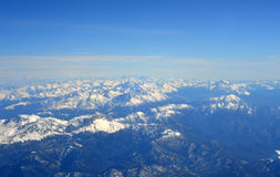 Aerial view of Mountains. Royalty Free Stock Photos