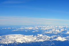 Aerial view of Mountains. Royalty Free Stock Image