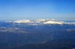 Aerial view of Mountains. Royalty Free Stock Photography