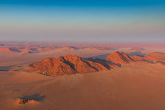 Aerial view of mountains sanddunes Sosusvlei Stock Photos