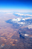 Aerial View of Mountains with Snow Royalty Free Stock Image