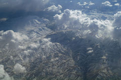 Aerial view mountains , Stock Photography
