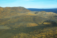 Aerial view of mountains and volcanic landscape Royalty Free Stock Photography