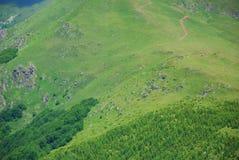 Aerial view on mountais Royalty Free Stock Photos