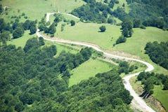 Aerial view on mountais Stock Photography