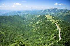 Aerial view on mountais Royalty Free Stock Photo