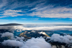 Aerial view of mt. cook national park. New zealand Stock Photo