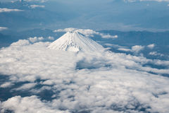 Aerial view of Mt. Fuji in Japan. Aerial view of Mt. Fuji (Hoei Crater side) in Shizuoka, Japan Stock Images
