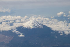 Aerial view of Mt. Fuji in Japan Stock Image