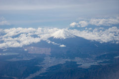 Aerial view of Mt. Fuji in Japan Royalty Free Stock Image