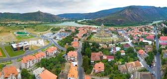 Aerial view of Mtskheta, Georgia Stock Images