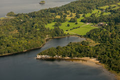 Aerial view of Muckross House and Dundag Point Royalty Free Stock Photography